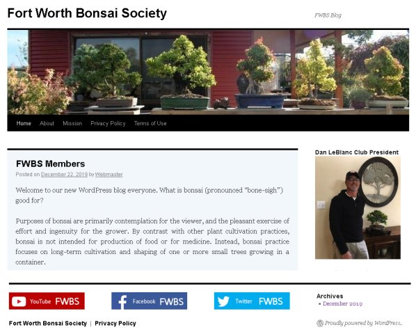 Home Fort Worth Bonsai Society